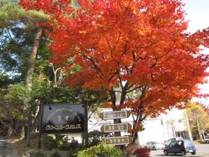 草津グリーンパークパレスホテル看板